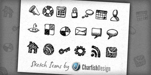 19 Free hand-drawn sketch icons
